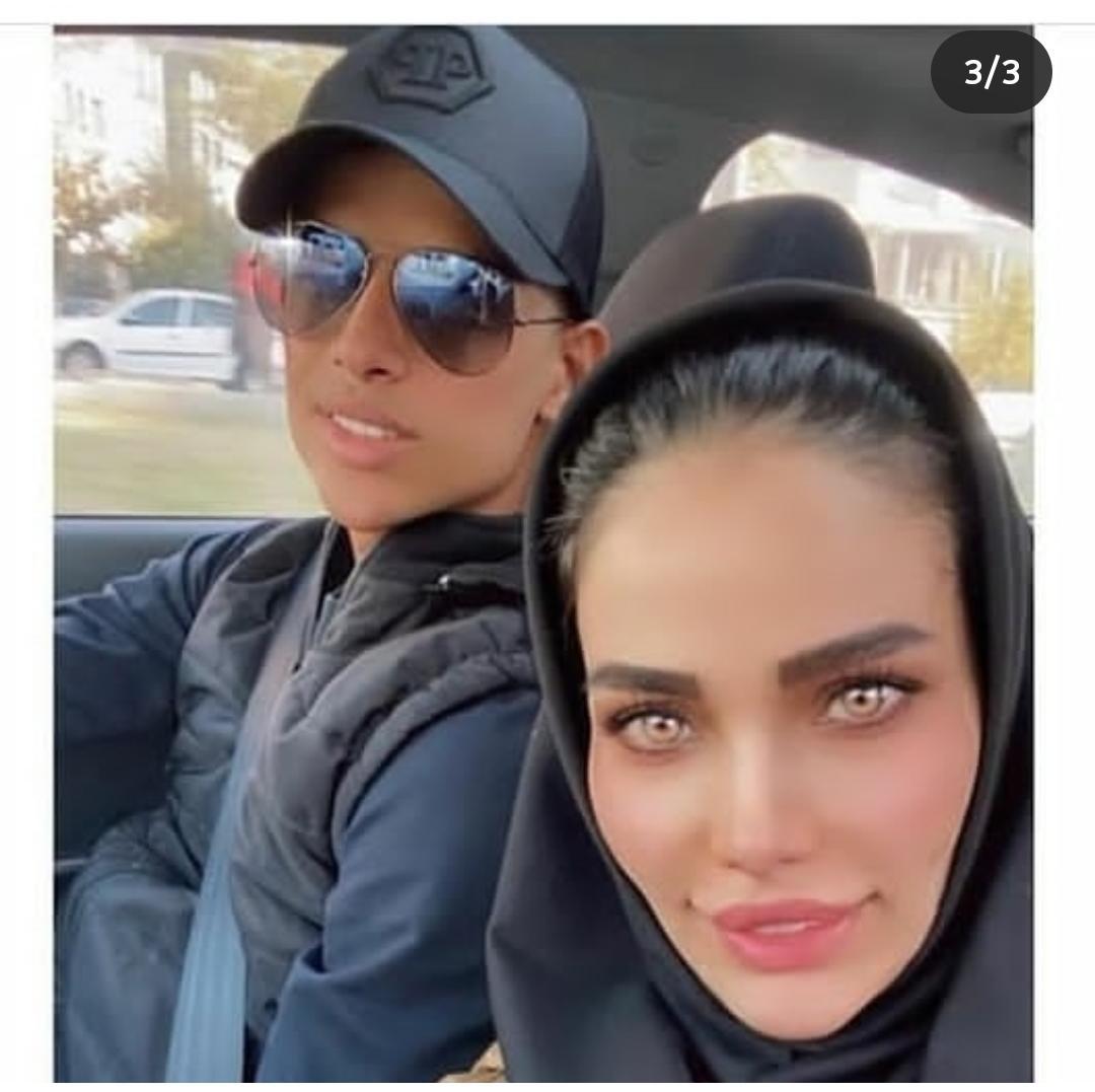 ماشین میلیاردی مهدی قائدی و همسرش