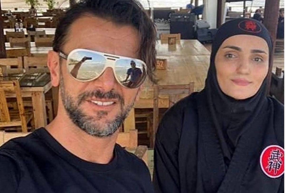 خالکوبی جدید امین حیایی با همسرش + عکس