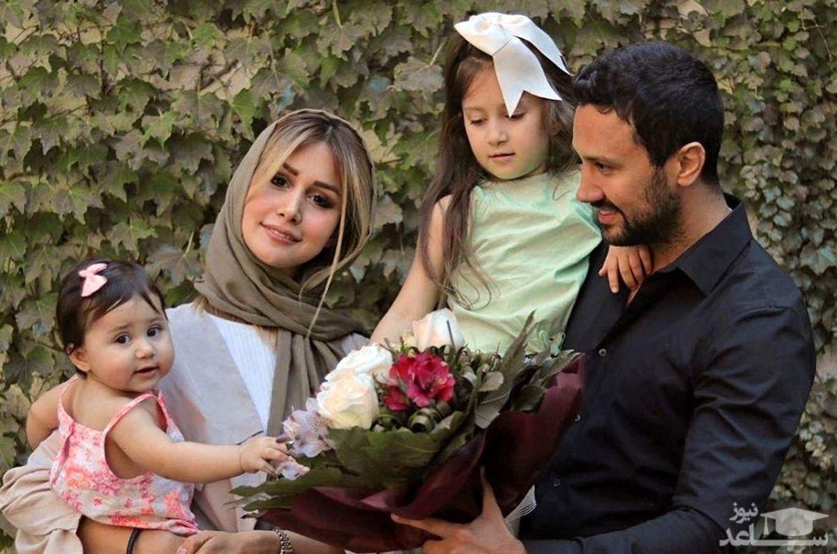 شاهرخ استخری با خانواده اش