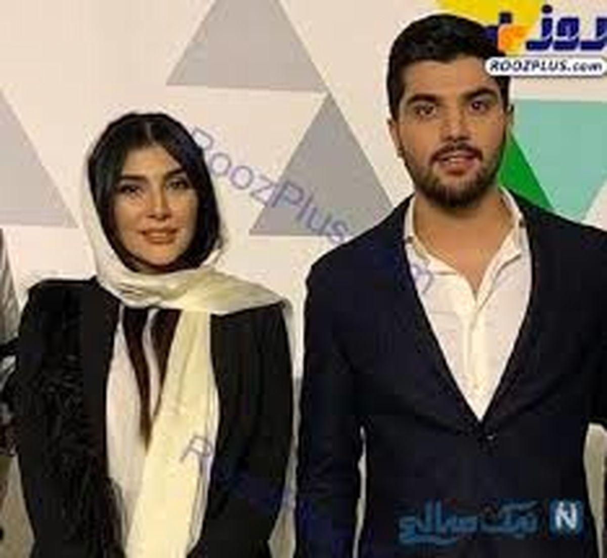 تیپ متفاوت سینا مهراد و همسرش + عکس