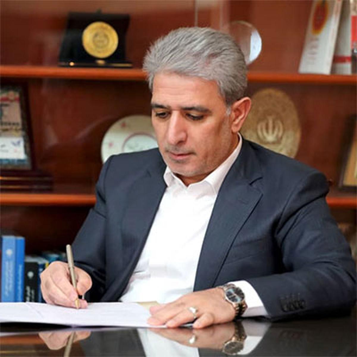 پیام تبریک مدیرعامل بانک ملی ایران به رئیس جمهور منتخب منتشر شد