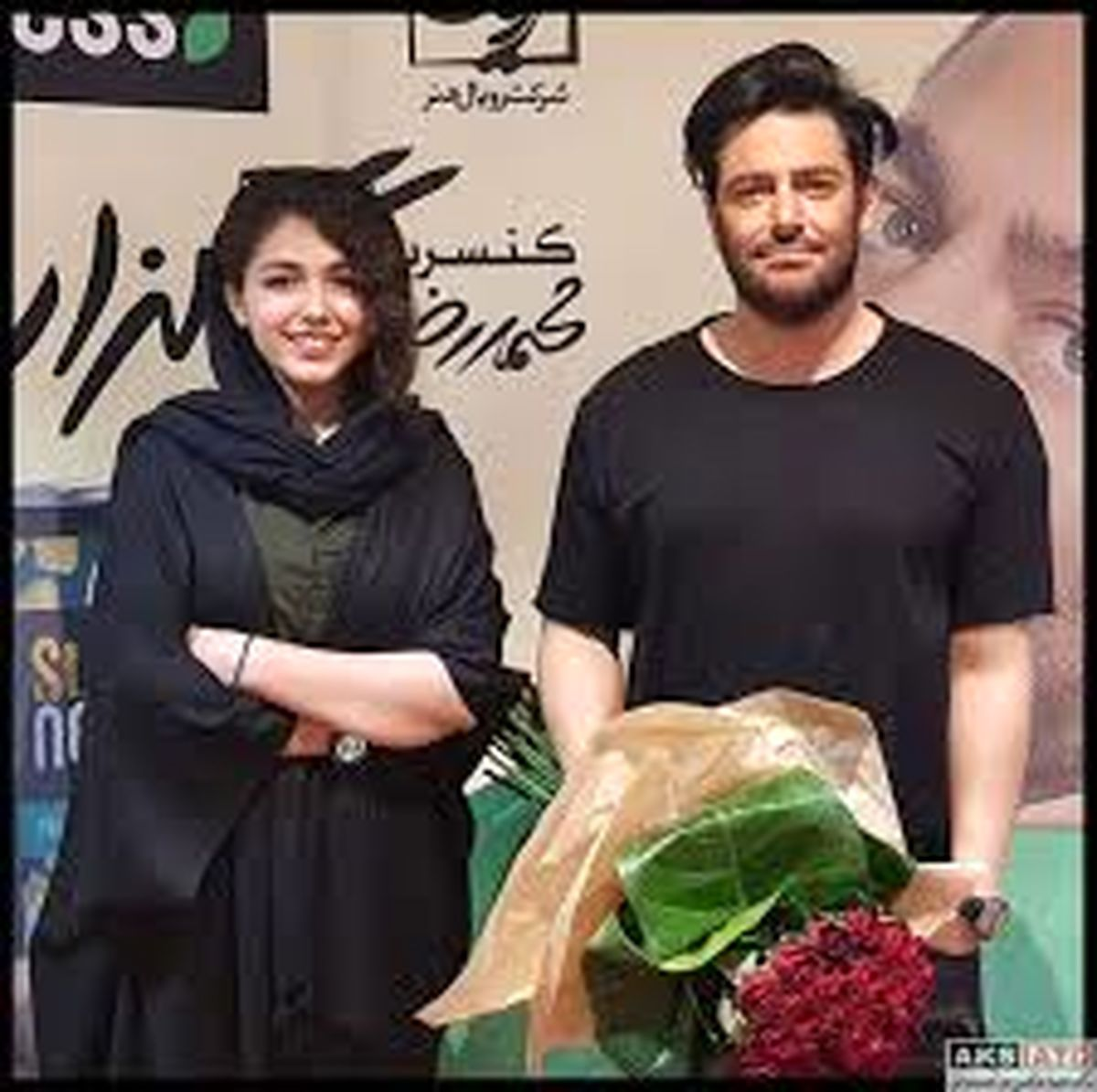 عکس محمدرضا گلزار و هانیه توسلی در پشت صحنه سریال گیسو + عکس