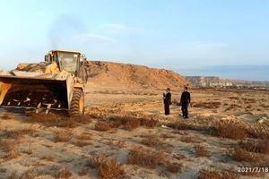 رفع تصرف 130.6هزار مترمربع اراضی خالصه دولتی به ارزش 130.6میلیارد ریال در روستای ریگو قشم