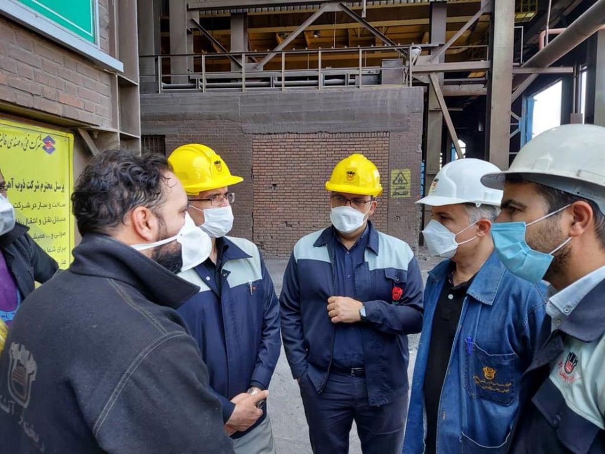 بازدید مدیر عامل شرکت از روند تولید و تعمیرات کارخانه