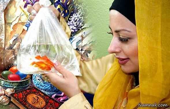 نفیسه روشن با ماهی عید