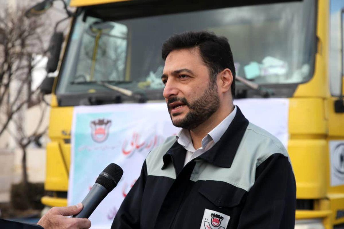 ارسال اولین محموله کمک های ذوب آهن اصفهان به سی سخت